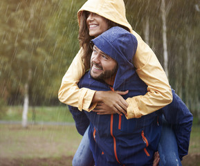 In rain we are so much happy