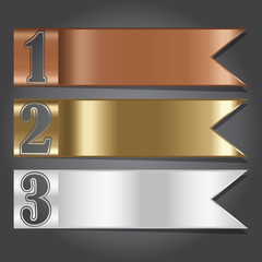 Vector Illustration, Metal Flag Banner for Design and Creative W