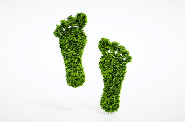 Ecological footprint symbol