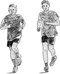 boys jogging