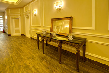 Luxurious corridor in a hotel