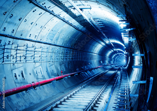 Leinwanddruck Bild Subway Tunnel