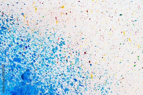Canvas Vormen kreative Farbkleckserei
