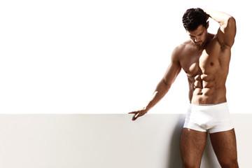 Sexy portrait male model in underwear © ASjack