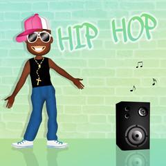 Black man dancing hip hop