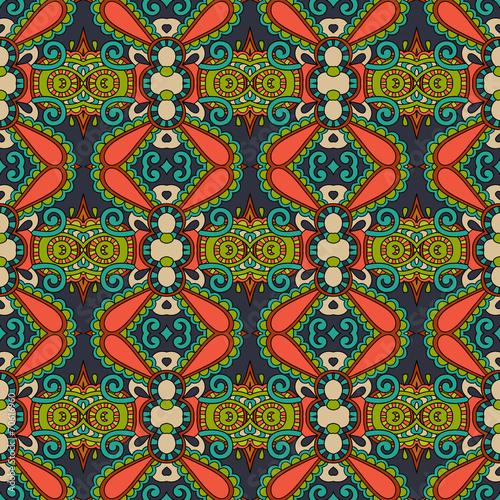 seamless geometry vintage pattern, ethnic style ornamental backg - 70616960