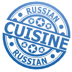 Russian cuisine stamp