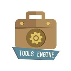 Tools symbol on white background,Retro colour concept