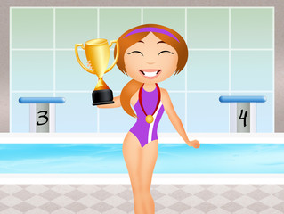 swimming champion