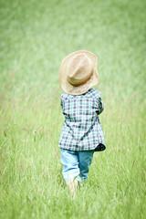 Kleiner Junge auf der Sommerwiese