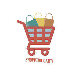 Shopping cart concept design,retro design on white background