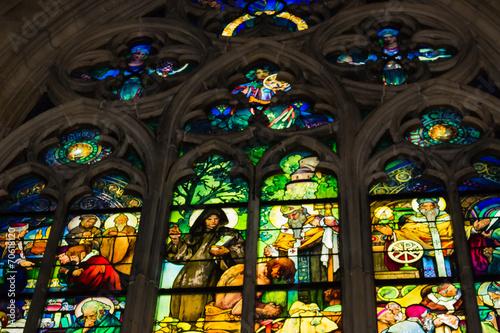 Aluminium Praag Decal of St. Vitus Cathedral in Prague