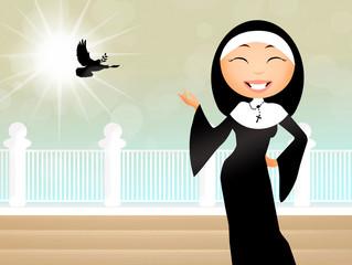 Nun cartoon