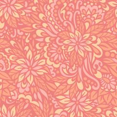Flowering Garden. Seamless decorative pattern.