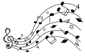 Music notes .
