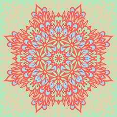 Flower Mandala. Abstract background.