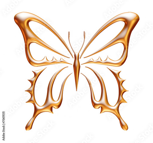 Aluminium Fyle Golden Butterfly