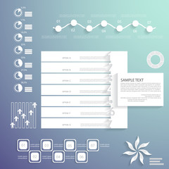 Universal infographic elements, design for your presentation