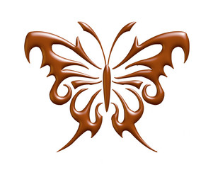 Beautiful butterfly in chcolate