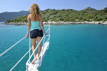 Turchia, mare in barca presso l'isola di Kekova