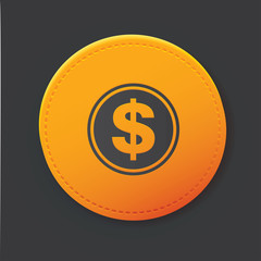 Dollar button,clean vector
