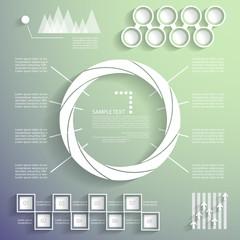 Vector set, universal infographic elements