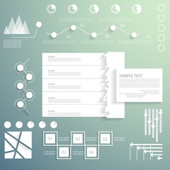 Vector set, universal infographic elements