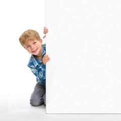Kind mit Plakat