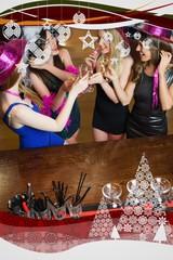 Happy gorgeous women having hen party