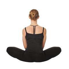 Beautiful slim woman doing yoga