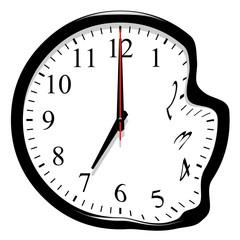 Horloge déformée