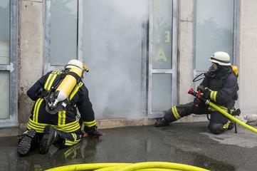 Feuerwehreinsatz - Rauchentwicklung in Gebäude