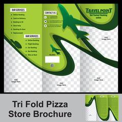 tri fold trevel store brochure