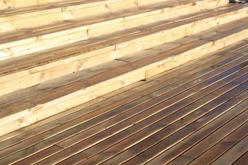 Wet wood planks