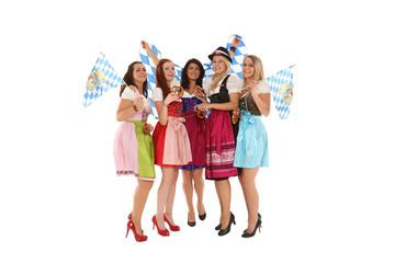 hübsche Gruppe Mädchen in bayrischer Tracht