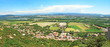 Leinwandbild Motiv Panorama sur la vallée du Rhône