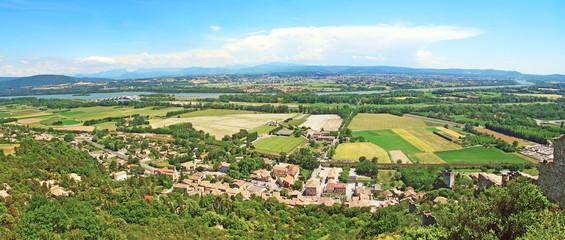 Panorama sur la vallée du Rhône