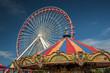 Ferris wheel and carousel - 70624980