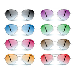 Sun glasses on white background.vector