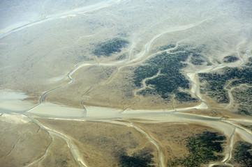 Luftbild vom Schleswig-Holsteinischen Wattenmeer