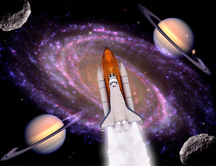 Shuttle Rocket Space Planets