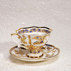 Porcelain  antique tea cup and saucer