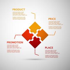 color puzzle marketing mix