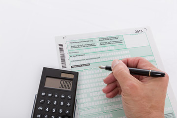Steuererklärung per Hand ausfüllen