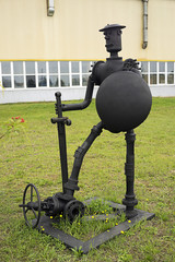 The sculpture of the items of oilfield equipment