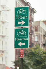 Bike Signs in New York