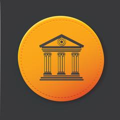 Bank button,clean vector