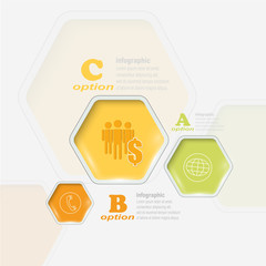 Abstract 3D Infographic background - Vector illustration