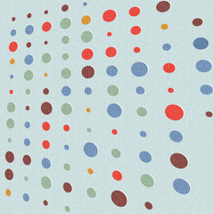 abstract retro polka dot background - vector illustration