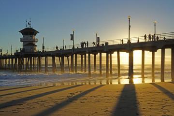 Huntington Beach Pier Shadows